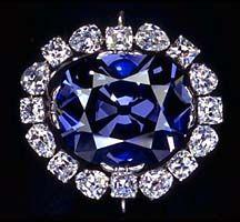Le diamant bleu de la couronne